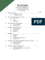 TiTLE VII Checklist