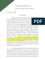 A LIBERDADE COMO IMPÉRIO DA LEI