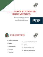 Elementos Rodantes - Rodamientos.