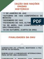 ORGANIZAÇÃO DAS NAÇÕES UNIDAS slides