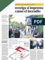 La PNP investiga si imprenta informal causó el incendio en centro de rehabilitación