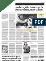 El Pronaa reanuda en julio la entrega de leche UHT a escolares de Lima y Callao