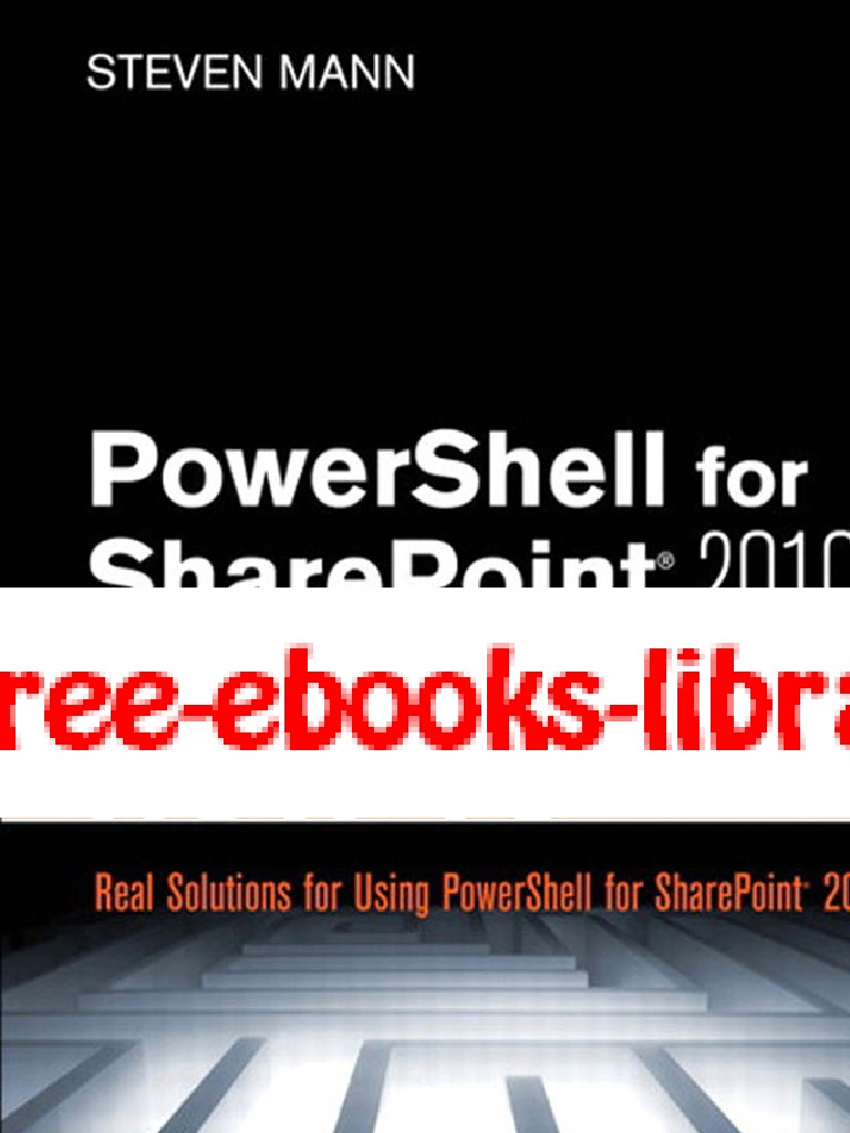 Power Shell for Share Point How To | Share Point | Command Line