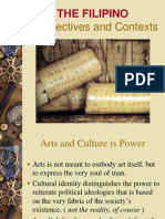 The Filipino Perspectives and Contexts of Culture and Arts