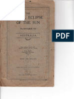 The Total Eclipse of the Sun 1922