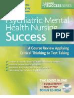 Psychiatric Mental Health Nursing Success
