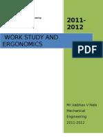 WORK STUDY (WORK MEASUREMENT & METHOD STUDY ) of  PRODUCTION TECHNOLOGY