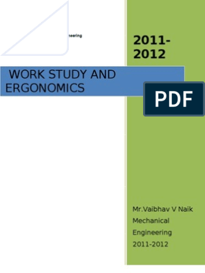 WORK STUDY (WORK MEASUREMENT & METHOD STUDY ) of PRODUCTION