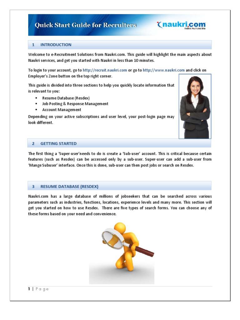 Quick Start Guide Of Naukri Email Parameter Computer Programming