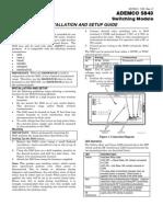 Honeywell 5843 Install Guide