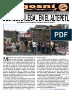 Kgosni 104-Desalojo en El Altepetl