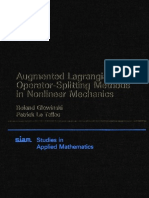 Augmented Lag Rang Ian and Operator-Splitting Methods in Nonlinear Mechanics (Studies in Applied and Numerical Mathematics)