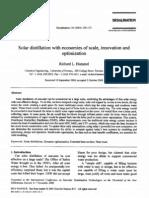 77301837 2001 Solar Distillation Economies of Scale Innovation Amp Optimization