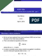 Boundary Value Problems Part 1
