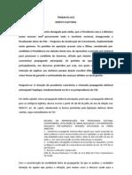 TRABALHO AV2 - Direito Eleitoral