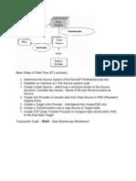 Basic Steps of Data Flow Loading Master Data From Flat File