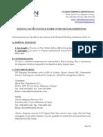 Shipping Instructions&Tarrif
