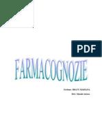 FARMACOGNOZIE