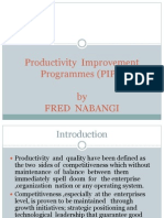 Introduction to Perfomance Improvement Programmes
