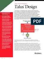 Talus Design Datasheet