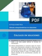 ESTEQUIOMETRIA Cálculos estequiométricos en soluciones Curso de química básica Sesion (21)