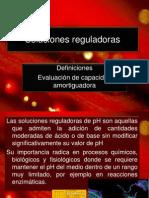 Soluciones reguladoras Definiciones Evaluación de capacidad amortiguadora Curso de química básica Sesion (28)