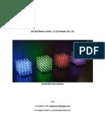 3D LED Matrix 5x5x5 Kit Instructions
