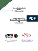 Universal Periodic Review-Morocco  13th session WSRW & Sahara Thawra