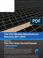 Overview Thin Film Manufacturers