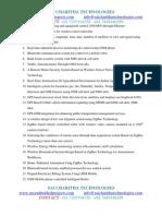 Latest Embedded Major Projects2012_saicharitha Technologies