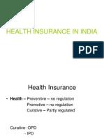 HEALTH Insurance in India-GC Chaturvedi Presntn