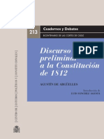 Discurso Preliminar Constitución 1812_Agustín de Argüelles