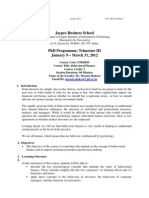 Behavioral Finance Course Outline PhD 2012