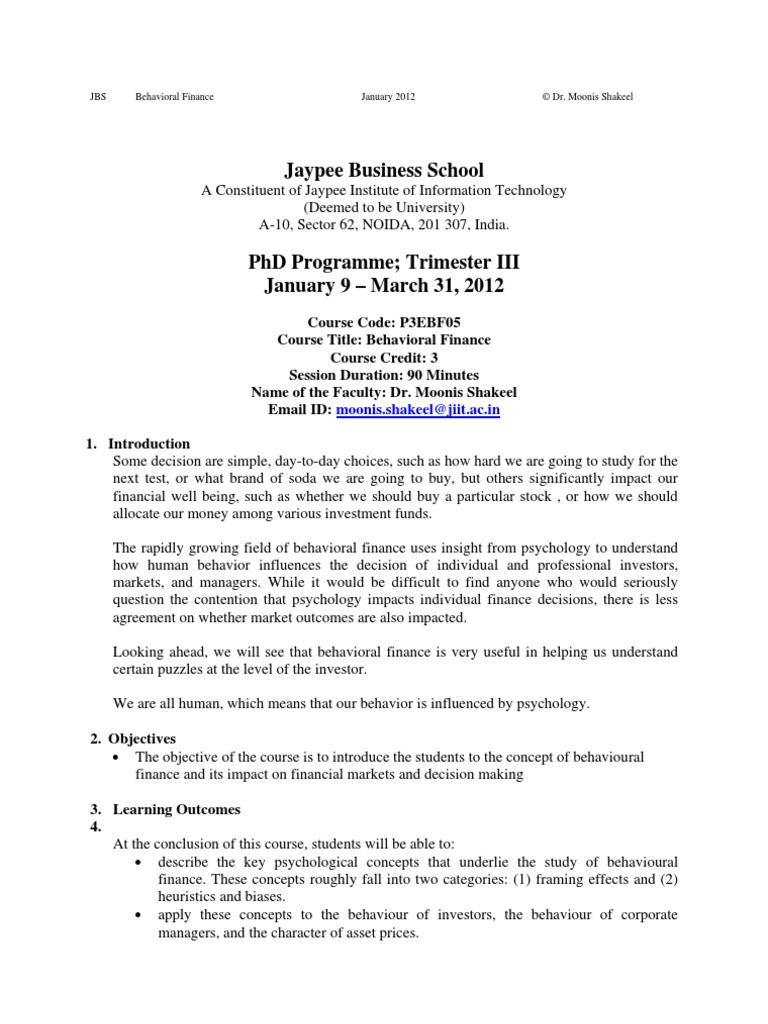 Essays in behavioral economics - LSE Theses Online