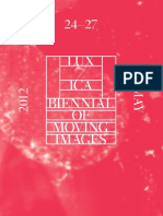 LUX/ ICA BIennial of Moving Images 2012 Programme Guide