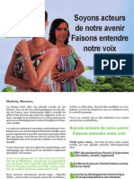 Profession de foi - Joelle PREVOT-MADERE & Nemea DAMAS - Legislatives 2012