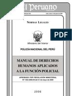 32649418 Manual de Derechos Humanos Aplicados a La Funcion Policial
