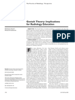 Gestalt Theory Implications for Radiology Education