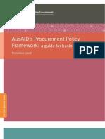 Procurement Policy Framework