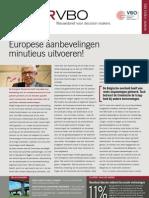 Europese aanbevelingen minutieus uitvoeren!, Infor VBO 18, 1 juni 2012