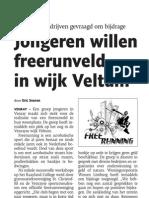 Jongeren Willen Free Run Veld in Wijk Veltum