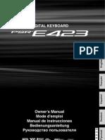 Manual Psr e423