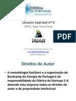 Energia de Portugal - Lessons Bootcamp nº6