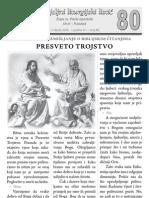 Župni listić - PUJANKE - 80 - Presveto Trojstvo