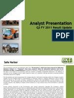 BKT Analyst Presentation Jan 11 (1)