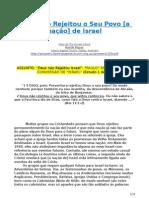 Deus não Rejeitou o Seu Povo [a nação] de Israel