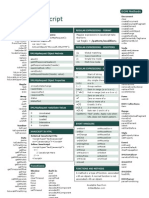 Javascript Cheet Sheet