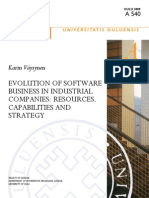 Evolution of Software Business in Industrial Companies Resources, Capabilities and Strategy
