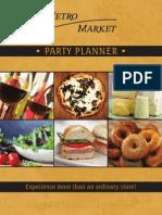 Metro Market Party Planner