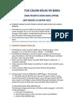 Info ran Ppdb Smpn 14 Depok 2012-2013